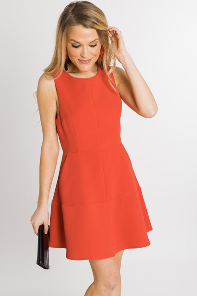 Audrey Fit & Flare Dress, Poppy