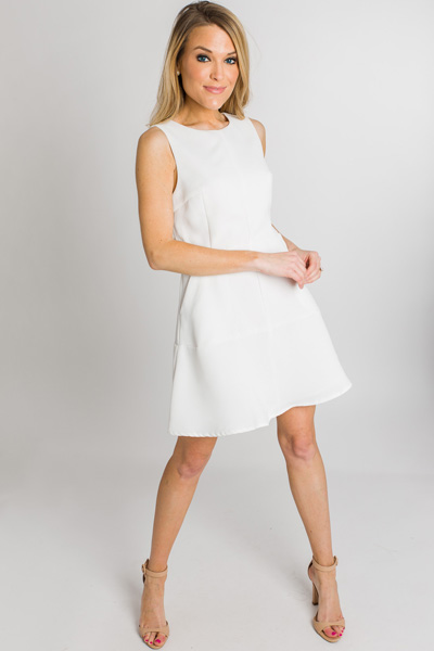 Audrey Fit & Flare Dress, White