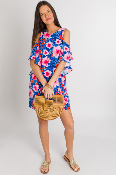 Birdie Ruffle Dress, Floral