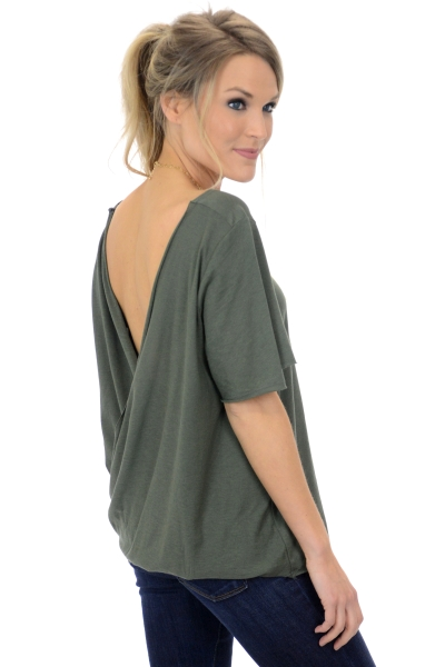 Backless Tee, Olive