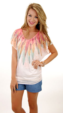 Fanned with Feathers Tee