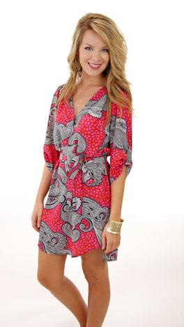 Pink Paisley Dress