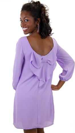 Bow Back Dress, Lilac