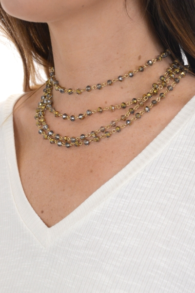 Shine on Wrap Necklace, Gold