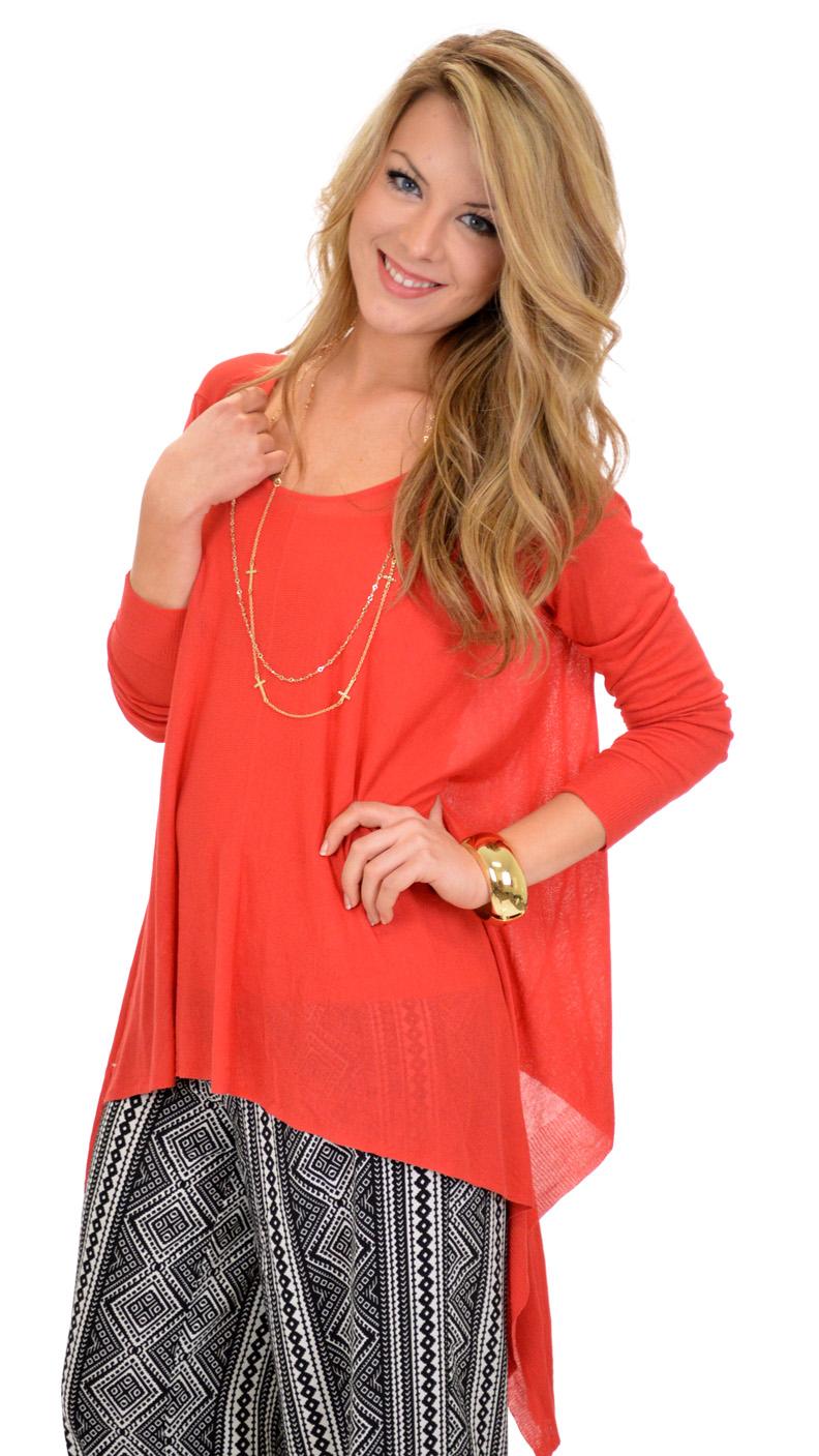 Selma Sweater, Burnt Orange