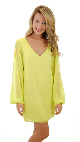 Arm Candy Dress, Lime