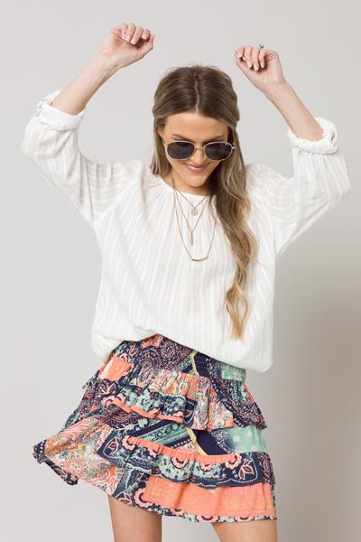 Morocco Smocked Skirt