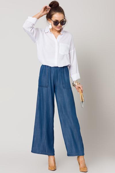 April Chambray Pants, Medium