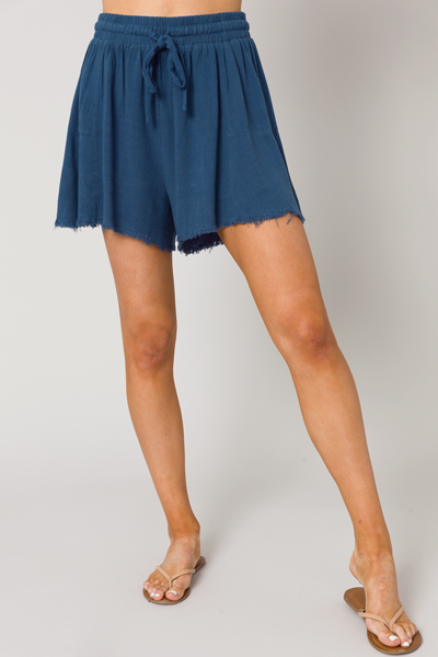 Olivia Fray Linen Shorts