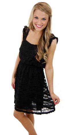 Make Me Blush Dress, Black