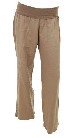 Roll Over Linen Pant, Mocha