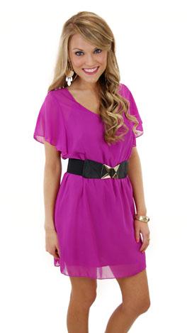 The Libby Dress, Magenta