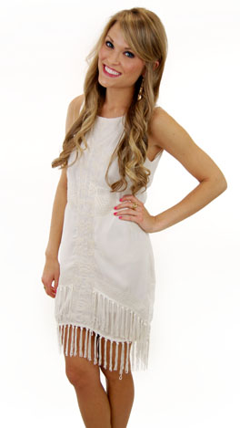 Strong Accents Dress, Cream