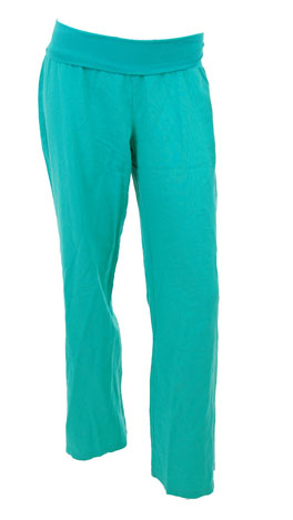 Roll Over Linen Pant, Teal