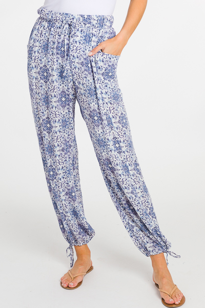 Blue Mosaic Pants