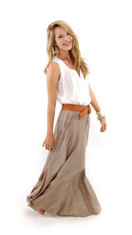 Braziliant Skirt, Taupe