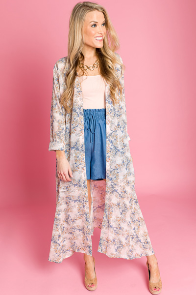 Blush Blooms Duster