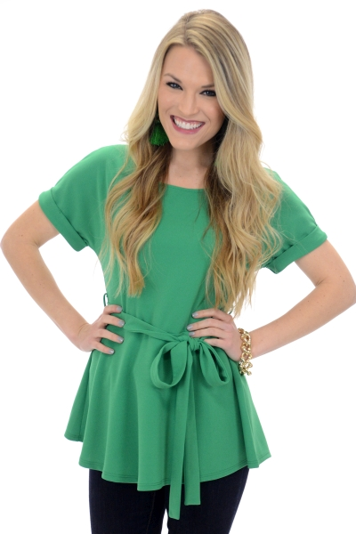 Best Belted Blouse, Emerald