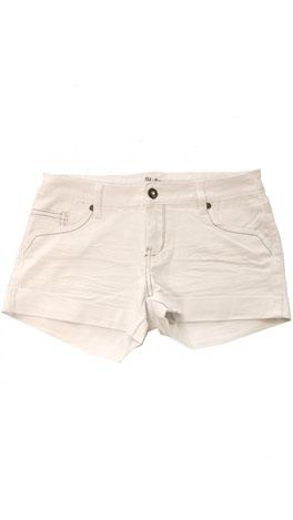 White Crinkled Shorts
