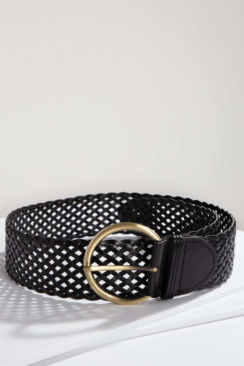 Essential Woven Belt, Black