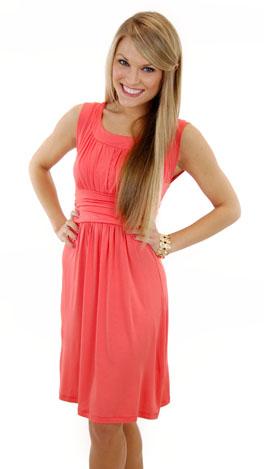 Good Call Dress, Coral