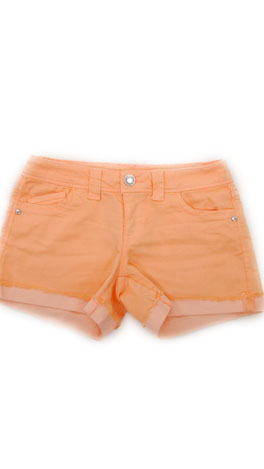 Cut Off Cuff Shorts, Peach
