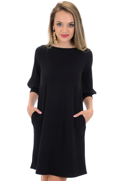 Essential Pocket Dress, Black
