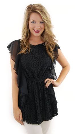 Sweet Lace Top, Black