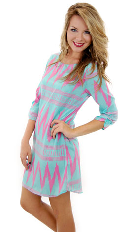 Feel the Pulse Dress, Mint