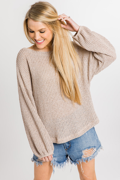 Allie Sweater, Taupe
