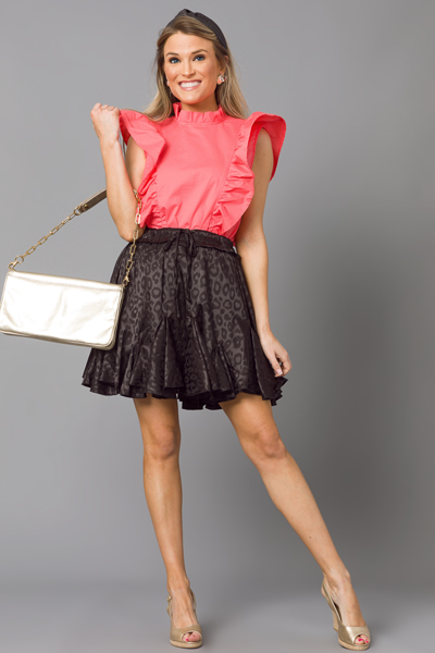 Black Shine Skirt