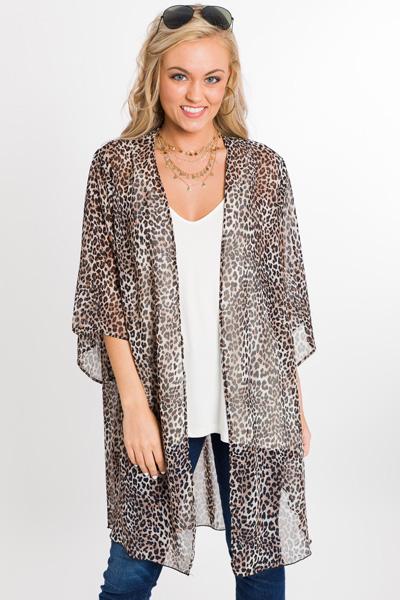 Cheetah Chic Kimono