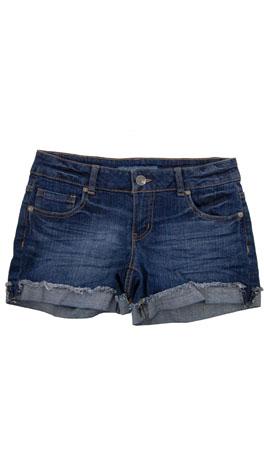 Cut Off Cuff Shorts, Dark Denim
