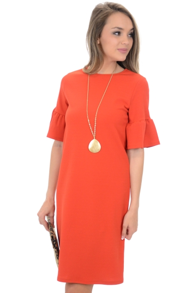 Mary Anne Dress, Coral