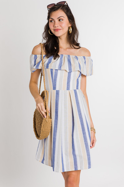 Beach Walk Stripe Dress