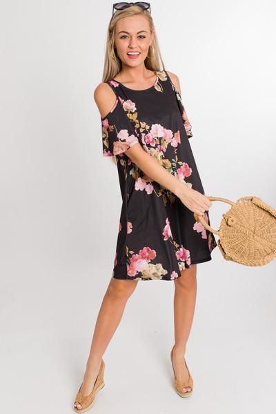 Flora Cold Shoulder Dress