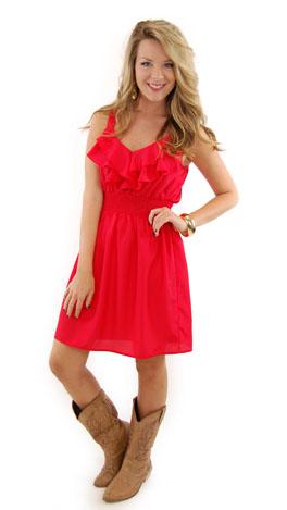 Simple Slip Dress, Tomato