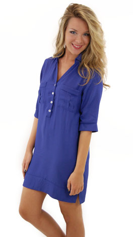 City Girl Shirt Dress