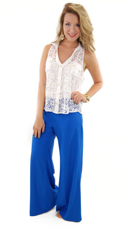 Night or Day Pants, Royal