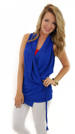 Side Show Tunic, Blue