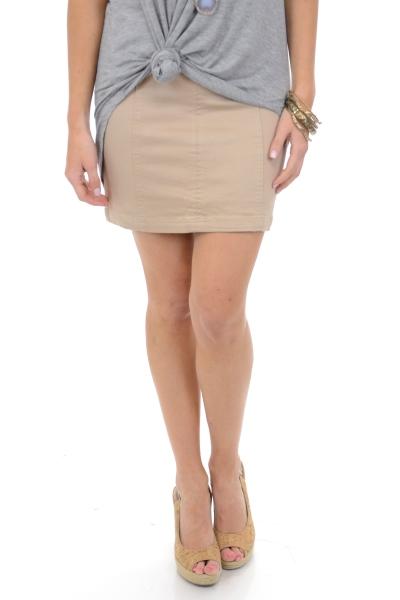 Cute in Khaki Skirt