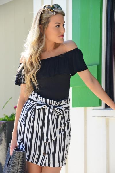 Devon Striped Skirt