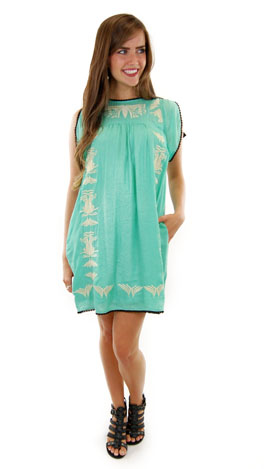 Sand & Sea Dress, Mint
