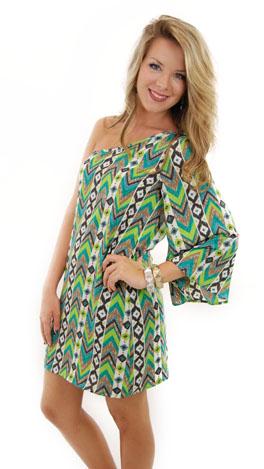 Greener Pastures 1 Shoulder Dress
