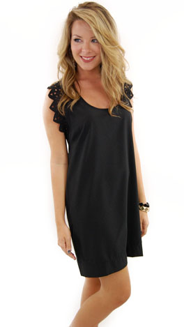 Trim Shady Dress, Black