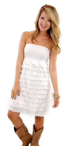 Sandy Cay Dress, White