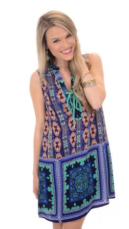 Charmer Lace-up Dress