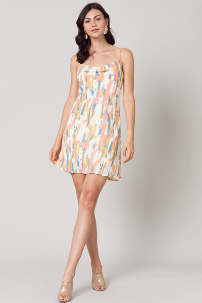 Peach Swag Slip Dress