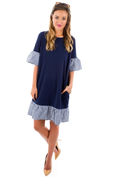 Dolly Dress, Navy