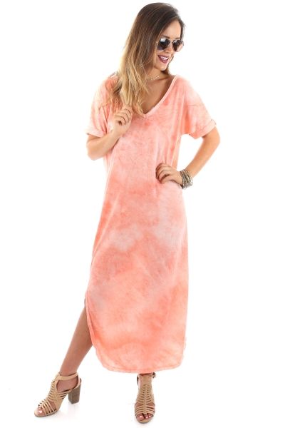 Peach Dyed Maxi